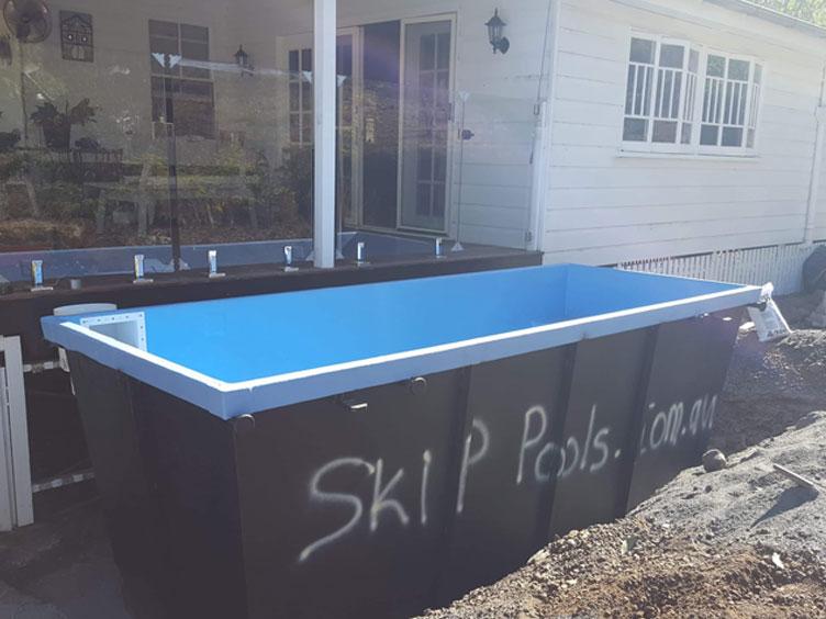 installing skip pool