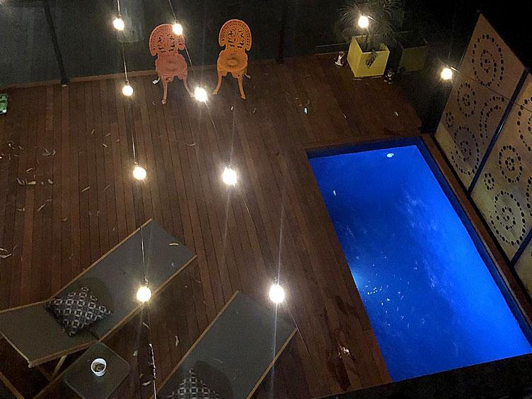 skip pool nightime