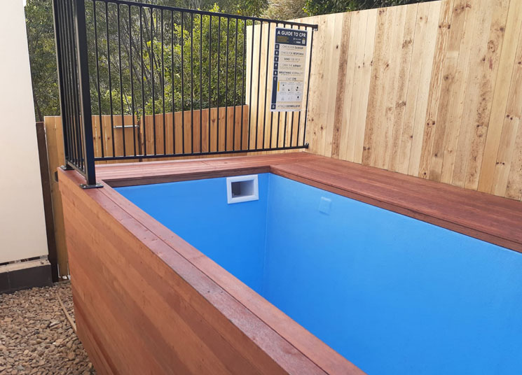 decking with skip pool