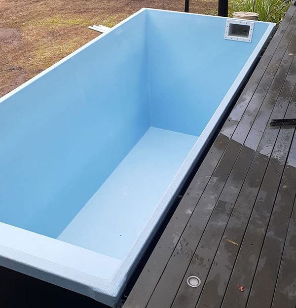 skip pool in place